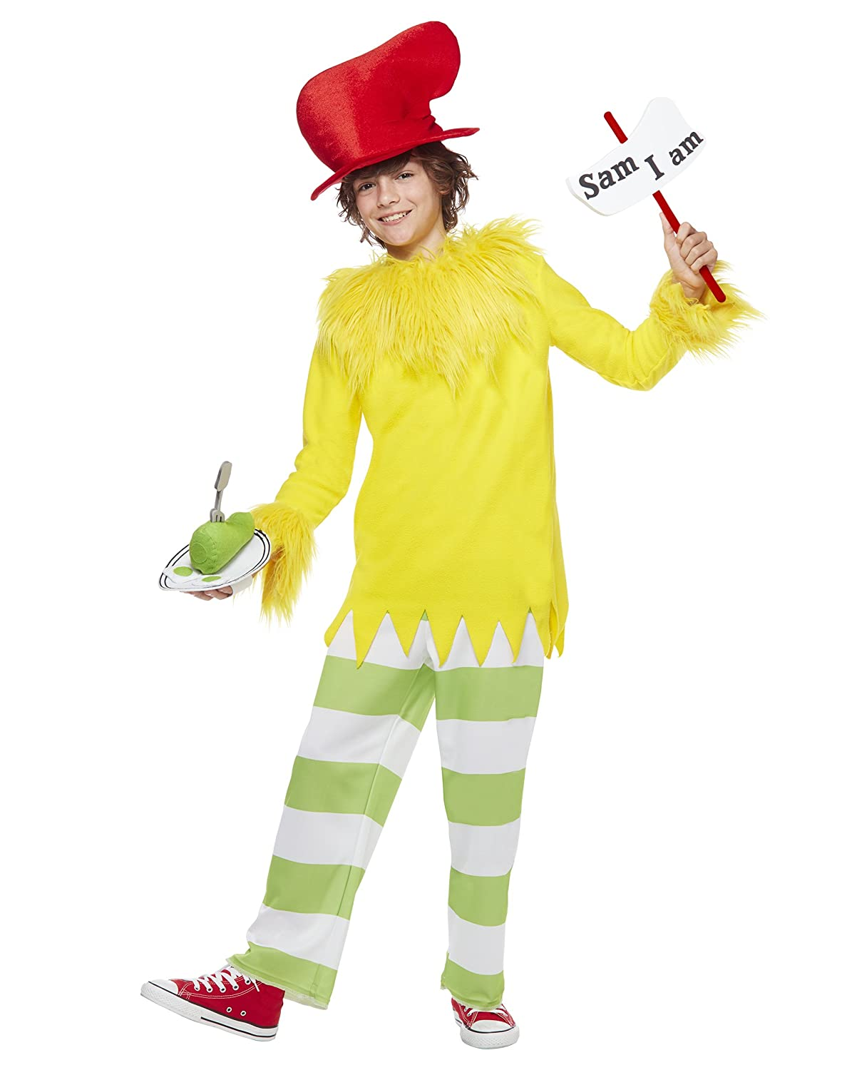 Amazoncom Spirit Halloween Kids Sam I Am Costume Dr Seuss Clothing