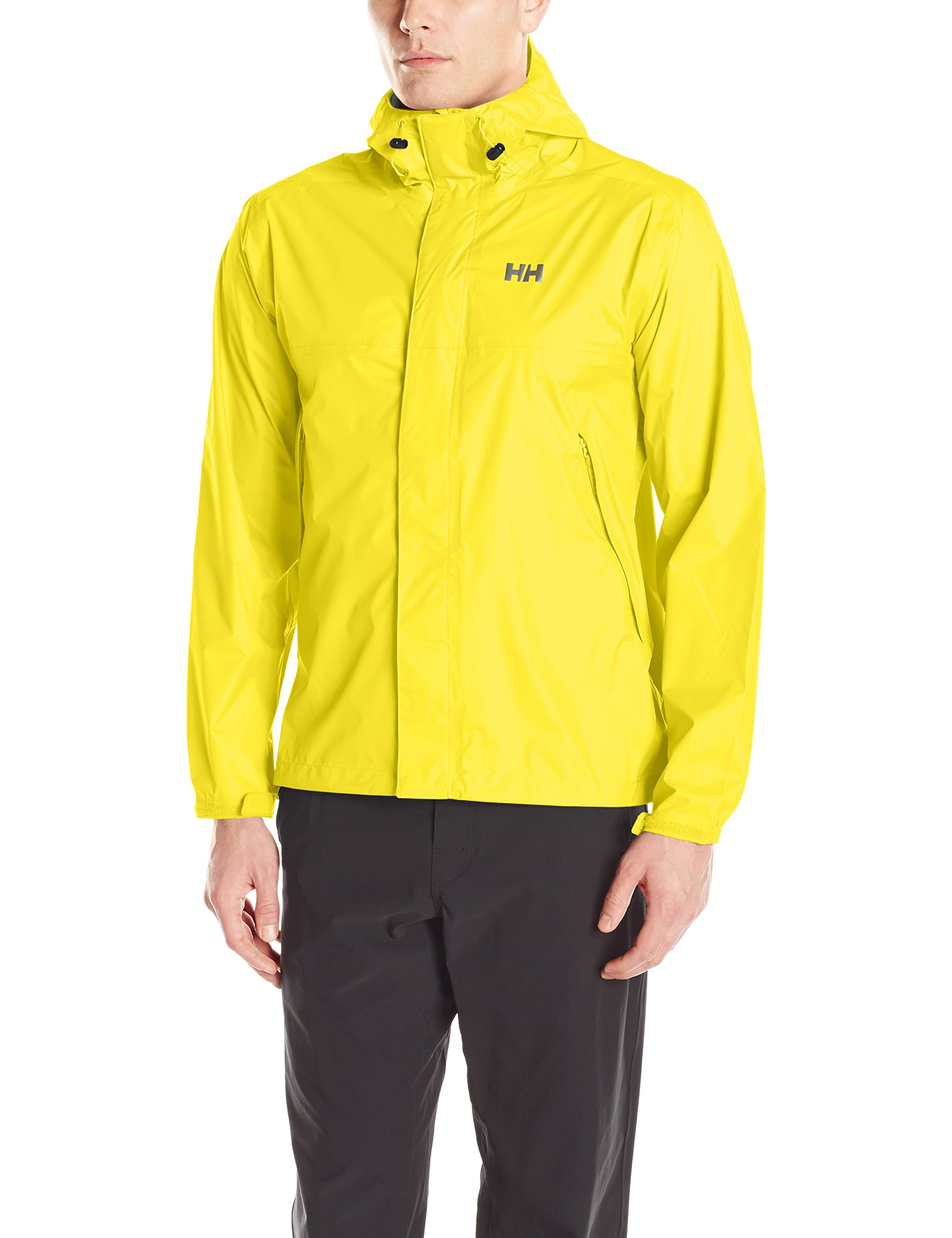 Helly Hansen Men's Loke Waterproof Windproof Breathable Adventure Rain Jacket, 351 Sulphur, Large