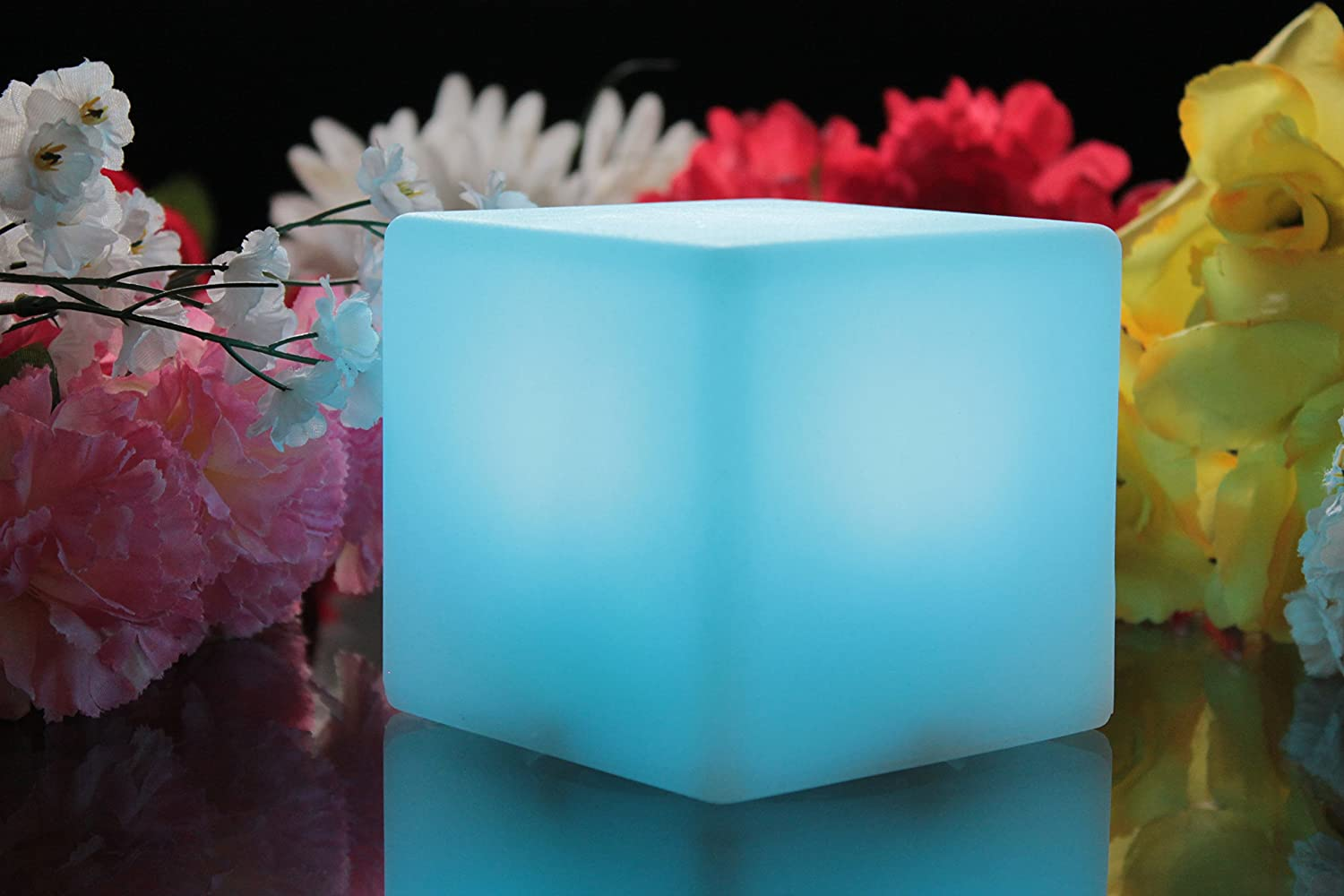 Com buy 10cm cube decorative battery operated rgb led table lamps - Mood Cube Night Lamp Colour Changing 10cm Battery Glow Cube Led Light Sensory Toy For Kids Adults Bedroom By Pk Green Amazon Co Uk Kitchen Home