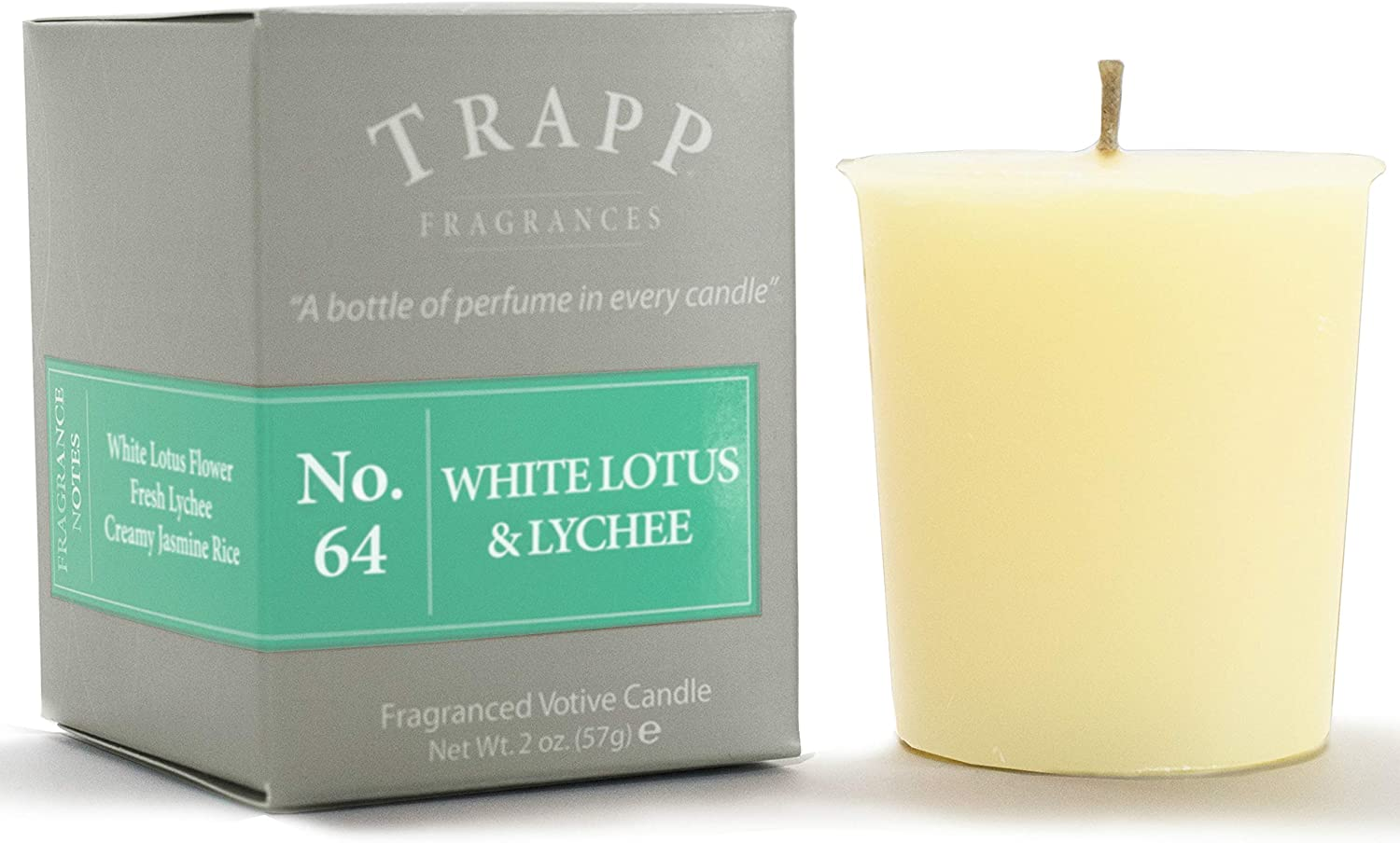 Trapp Signature Home Collection - No. 64 White Lotus & Lychee Votive Scented Candle 2 Ounce, Pack of 4