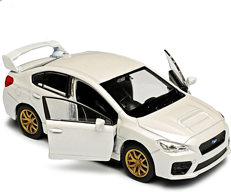 Welly Subaru Impreza WRX STI Limousine Weiss Ab 2014 ca 1//43 1//36-1//46 Modell Auto mit individiuellem Wunschkennzeichen