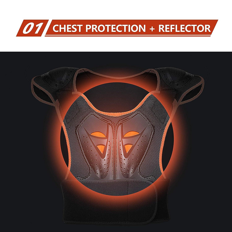 Suntime Protecci/ón de Cuerpo Protector para Esqu/í Snowboard Patinaje Armadura del Pecho para Chico Ni/ño Protectora Deportiva Profesional de Columna Vertebral Hombro Tama/ño M