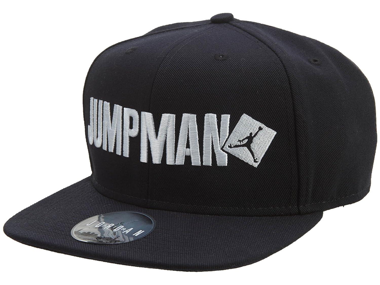 9872a0fb8de2cf Amazon.com  Nike mens JORDAN JUMPMAN SCRIPT SNAPBACK 789507 010 (Black)   Clothing