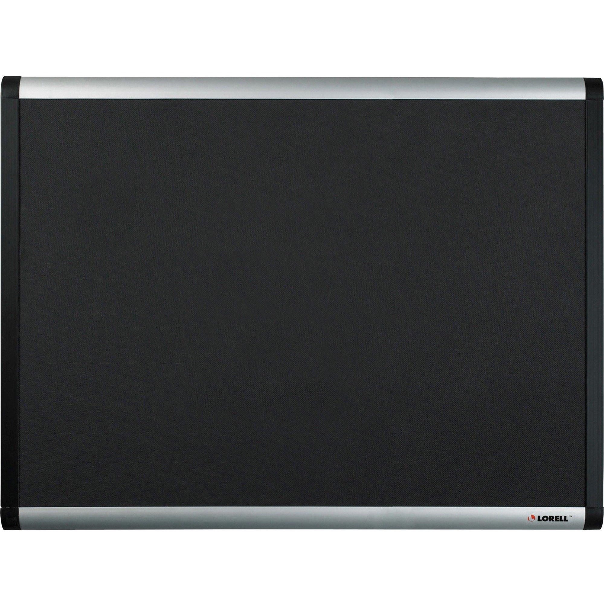 Lorell Bulletin Board, Mesh Fabric with Hardware, 4 by 6-Feet, Black
