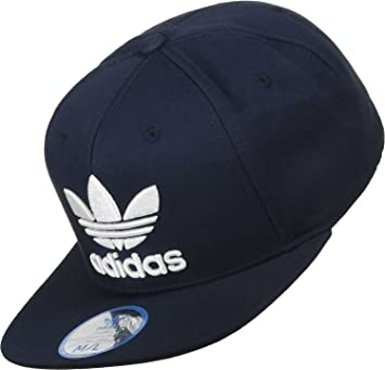 b33b56bc adidas Trefoil Men's Flat Cap, Men, Flache Trefoil, College Navy Blue/White