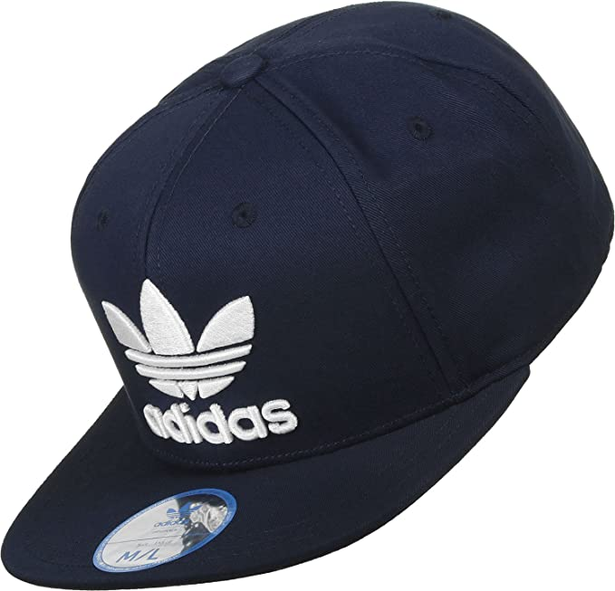 5af4e6bad686c9 Adidas Originals Snapback AC Cap TRE Flat S95078 Navy White Logo OSFM Kappe  Mens: Amazon.ca: Clothing & Accessories