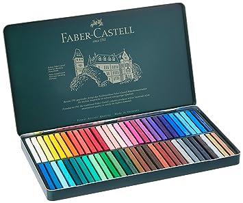 Faber-Castell 128560 - Estuche de cartón con 60 tizas pastel, multicolor