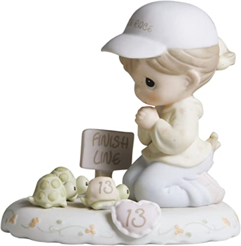 Precious Moments, Birthday Gifts, Growing In Grace, Age 13 , Bisque Porcelain Figurine, Brunette Girl, 272647B