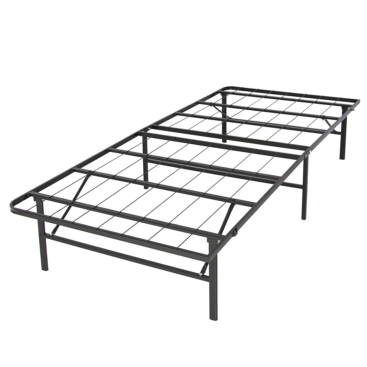Amazon.com: Best Choice Products Platform Metal Bed Frame Foldable ...