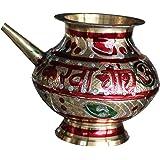 "Ecohaat brass karwa with beautiful engravings(5"")"