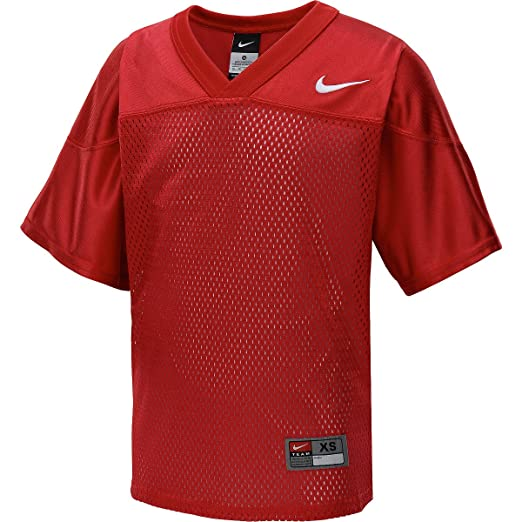 fe53c59d6 Nike Mens Core Football Practice Jersey Scarlet White 407089-657 (Large)