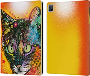 Head Case Designs Officially Licensed Dean Russo Intent Cats Leather Book Wallet Case Cover Compatible with Apple iPad Pro 12.9 (2020 / 2021)