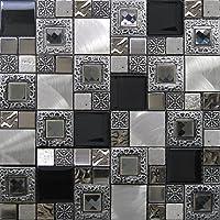 Mosaico de Vidrio y Aluminio en Malla LGX-Diamante