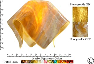 """product image for Jezebel Signature FR16-HON-158 Flame Glass Pendant Replacement Glass Shade-1 5/8"""" Hole, Large, Honeysuckle"""