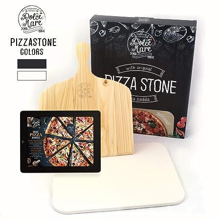 Dolce Mare® Pizza Stone - Piedra para Pizza de Cordierita Horno y ...