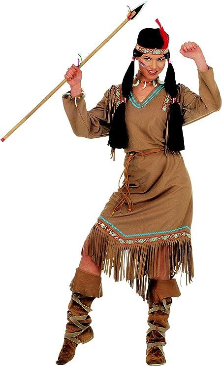 WIDMANN Widman - Disfraz de indio del salvaje oeste para mujer ...