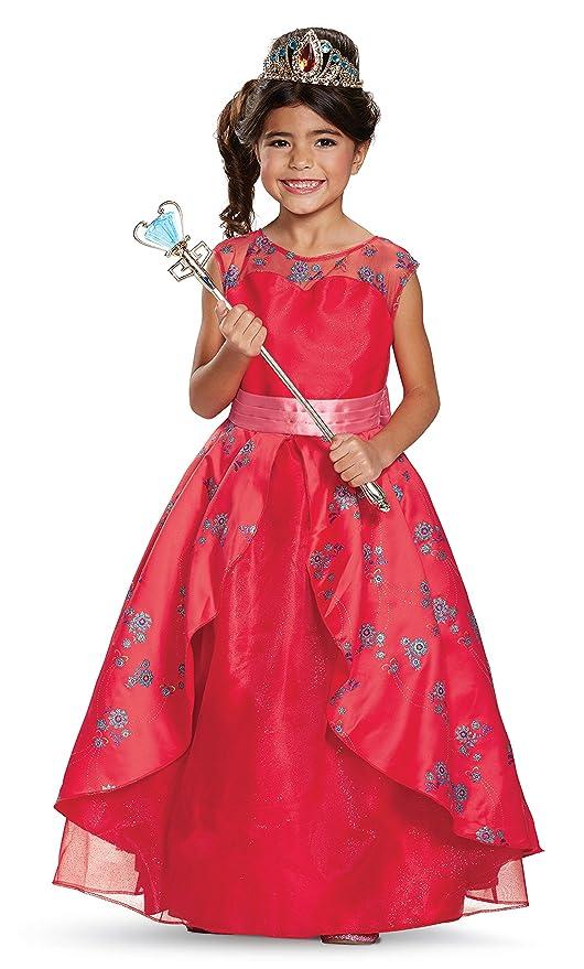 e10e87b2cb5c Amazon.com: Elena Ball Gown Prestige Costume, Red, Small (4-6X ...