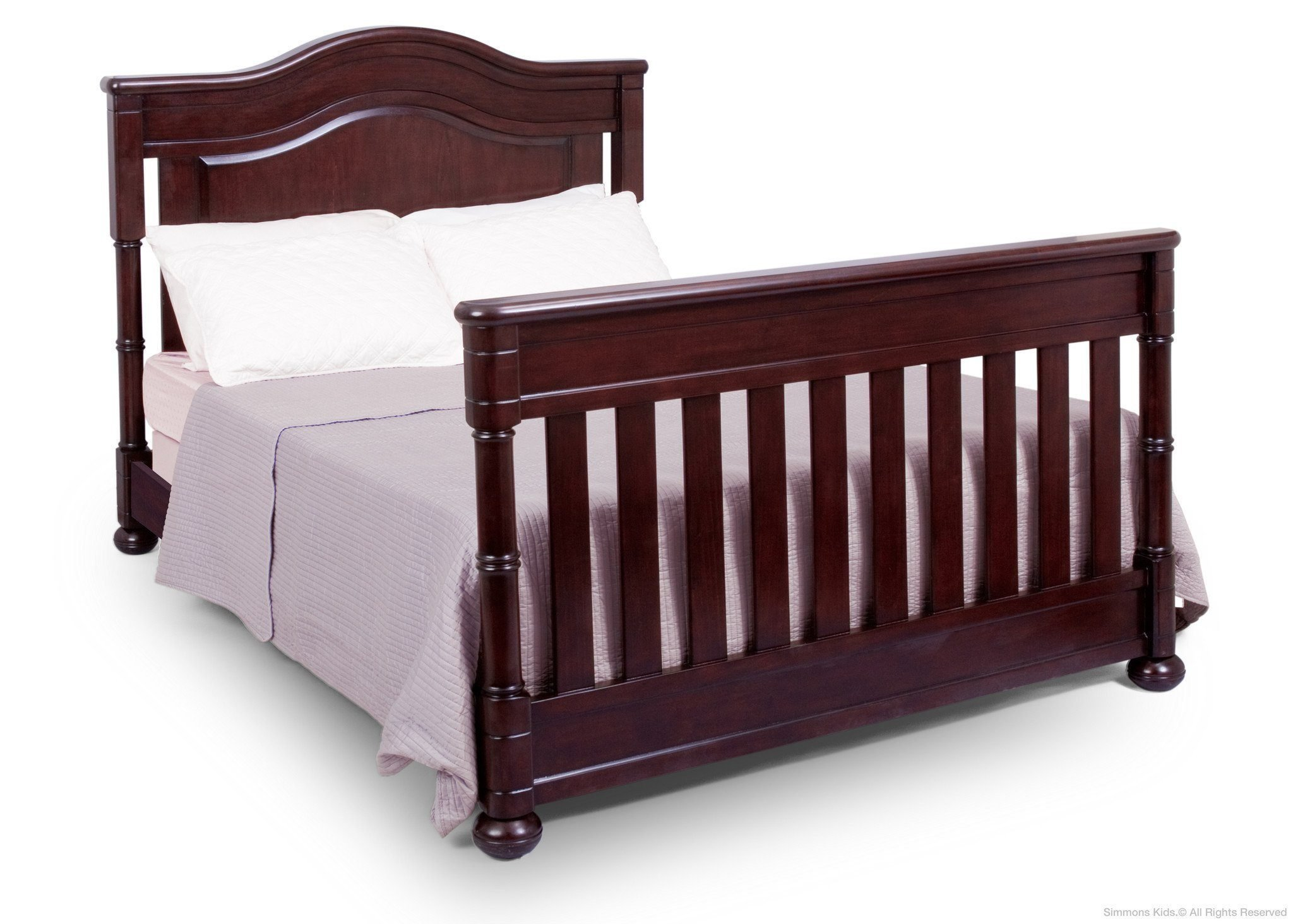 Full Size Conversion Kit Bed Rails for Simmons/Delta Childrens High Point Crib-N-More Crib - Molasses by CC KITS (Image #2)