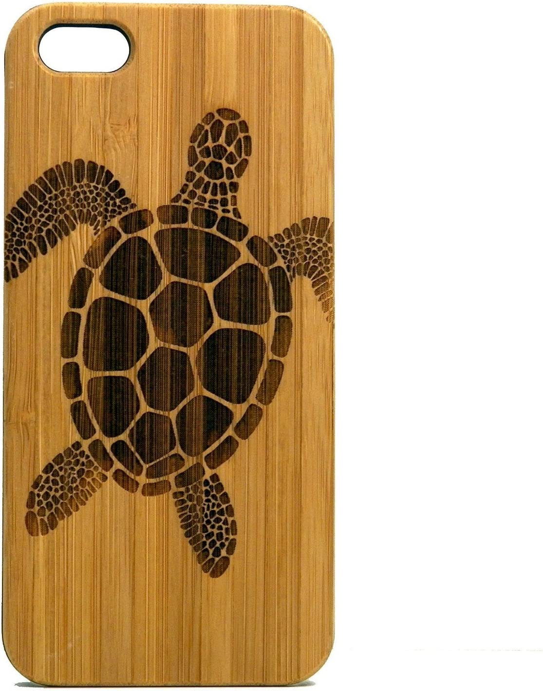 Sea Turtle iPhone 8 Plus Case/Cover by iMakeTheCase | Tribal Tattoo Ocean Sea Hawaiian Honu | Eco-Friendly Bamboo Wood Cell Phone Cover.