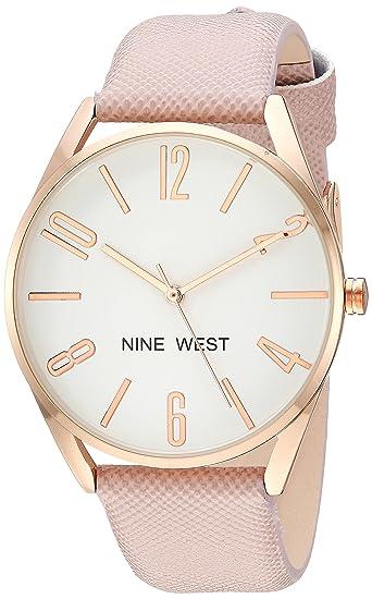 286a8ef7365 Nine West - Reloj de Pulsera para Mujer, Color Dorado: Amazon.es ...