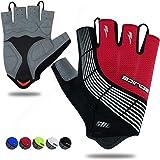 Souke Sports Cycling Bike Gloves Padded Half Finger Bicycle Gloves Shock-Absorbing Anti-Slip Breathable MTB Road Biking Gloves for Men/Women