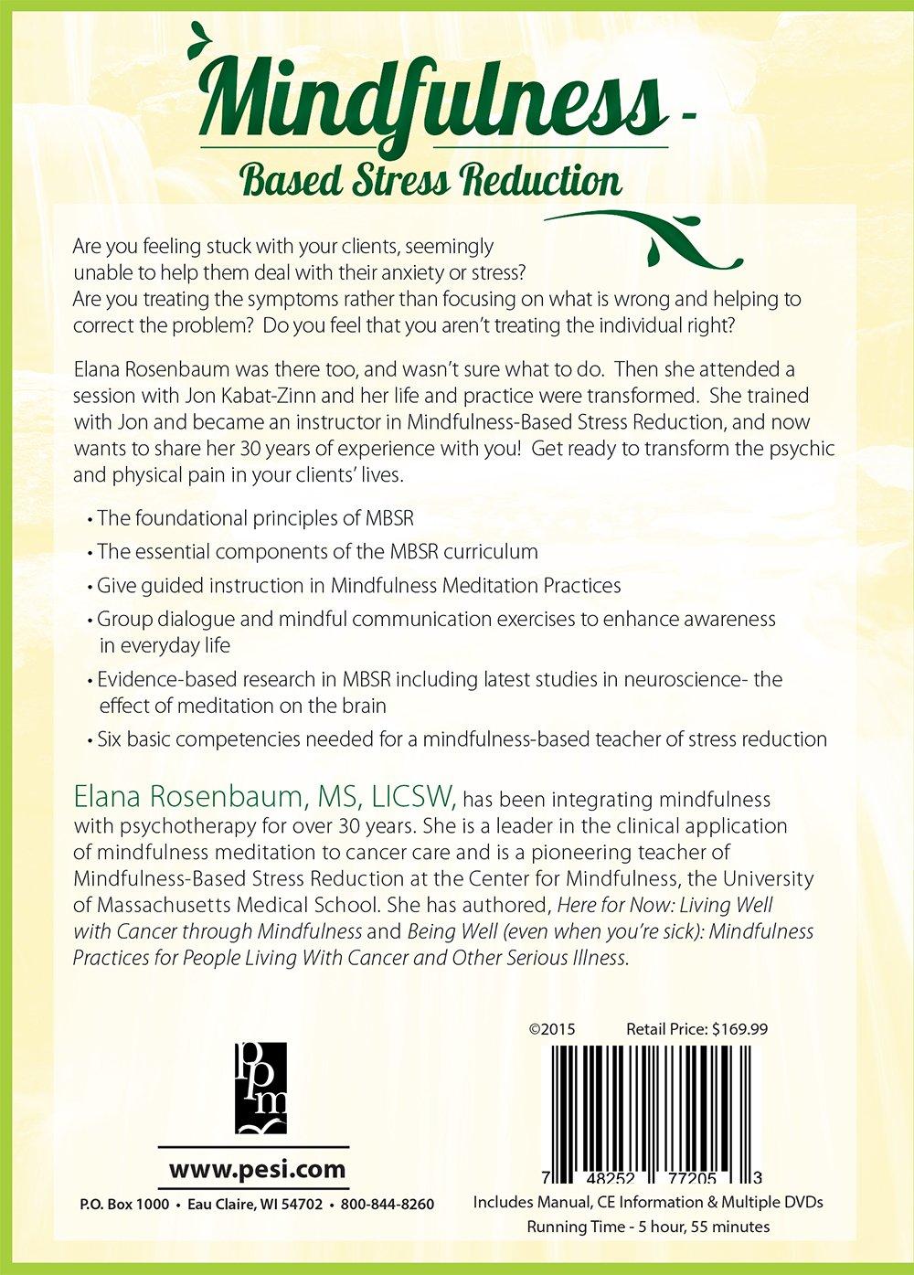 Amazon.com: Mindfulness Based Stress Reduction: Elana Rosenbaum ...