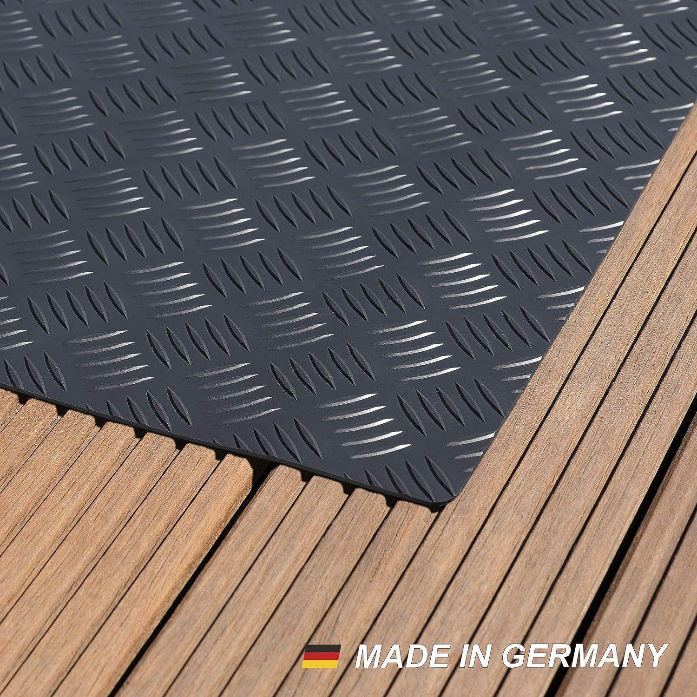 Büro & Schreibwaren Grillunterlage Bodenschutzmatte Grillschutzmatte Mit Riffelblechoptik Schwarz