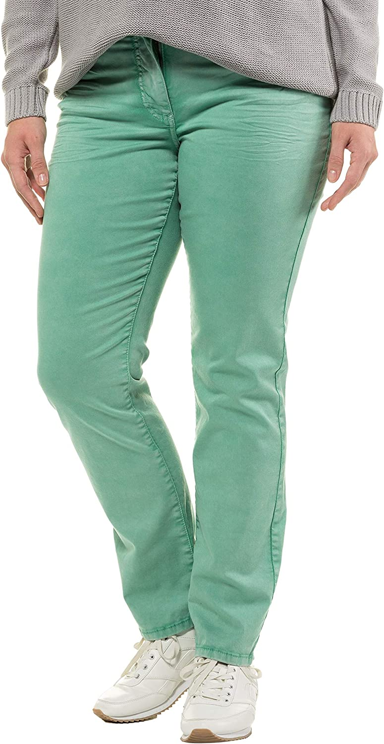Ulla Popken Womens Plus Size Colorwashed Stretch Jeans 720675
