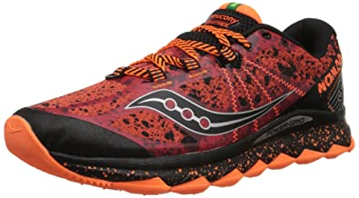Saucony Men's Nomad TR Running Shoe, Red/Black/Orange,8 ...