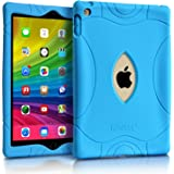 iPad Air 2 Case 9.7 inch, Armorex Durable Stylish [Shockproof] [Impact Resistant] [Kids Safe] Protective Silicone Cover for Apple iPad Air 2 (Blue)