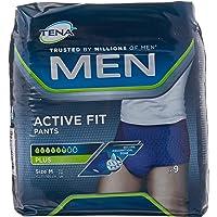 Tena, Aktiva passform byxor, blöjbyxor för män, storlek M, 36 (4 x 9)