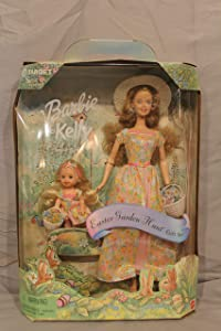 Special Edition Barbie & Kelly Easter Garden Hunt Gift Set 12 and 4 Figure includes the Easter Garden Hunt game!