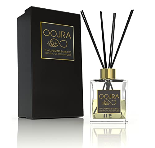 Oojra Thai Jasmine Bamboo Essential Oil Reed Diffuser Gift Set