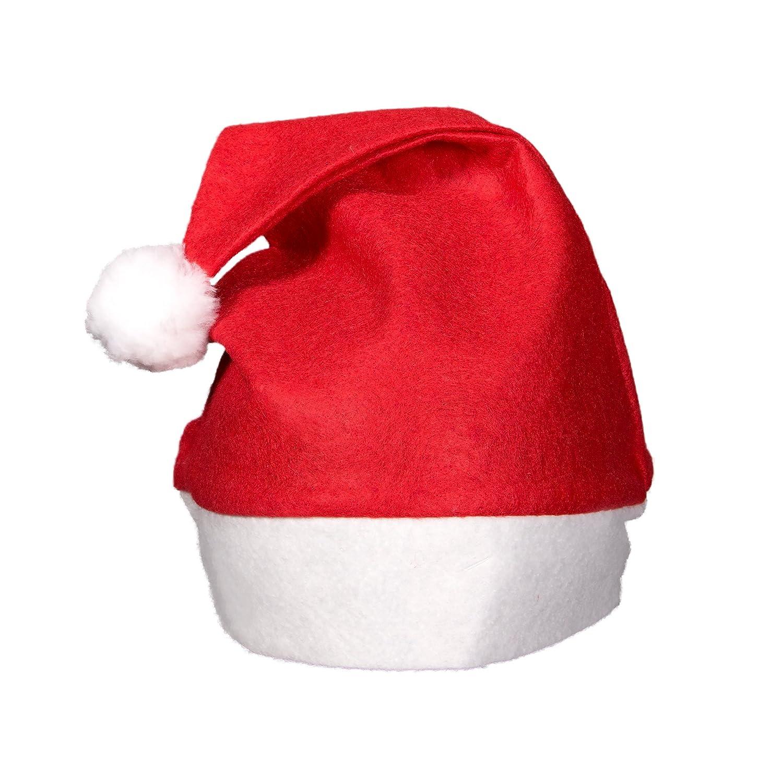 (12 Pack) Blue Felt Christmas Santa Hats Windy City Novelties