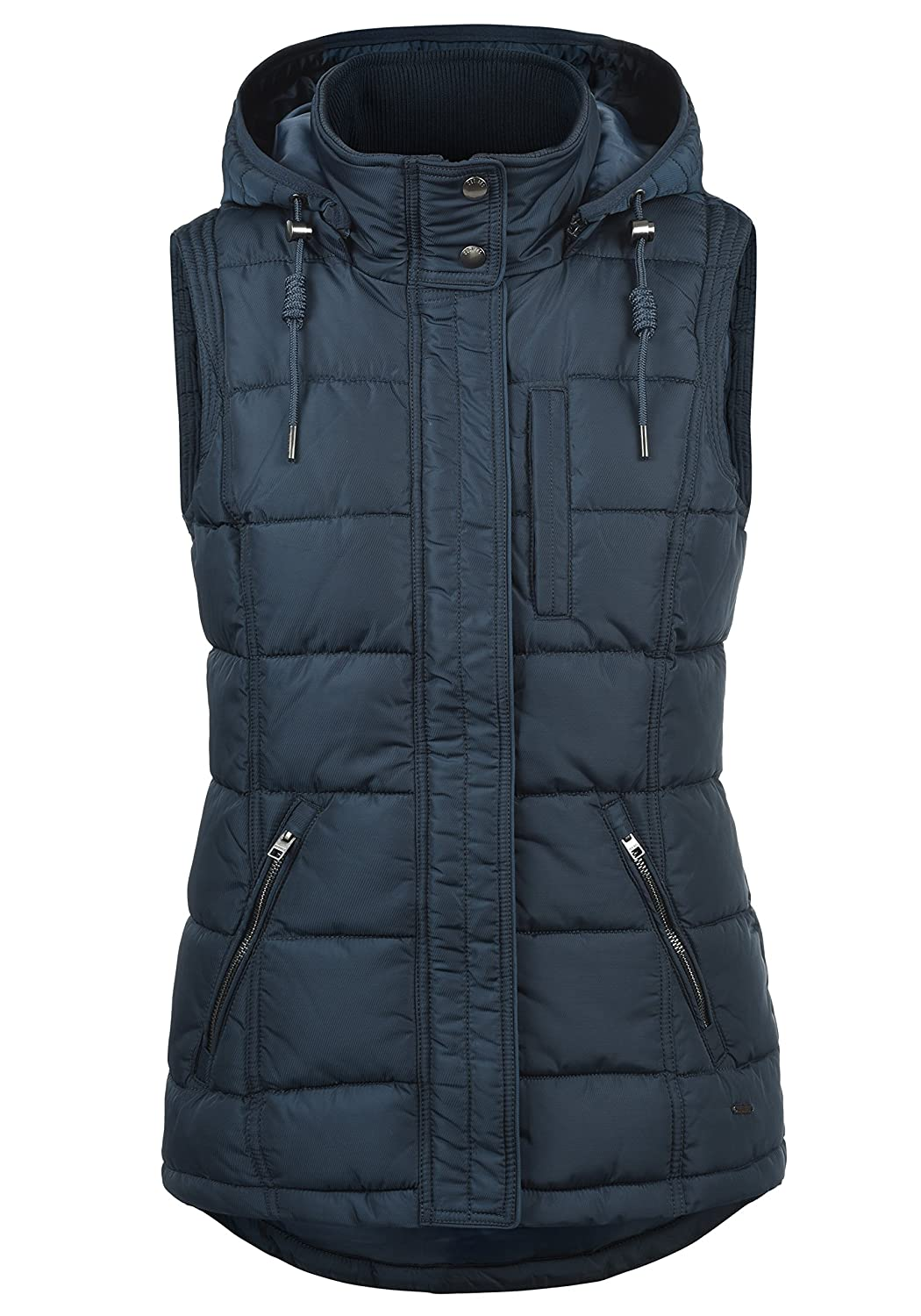 Desires Naomi Women's Quilted Gilet Vest Body Warmer Hood