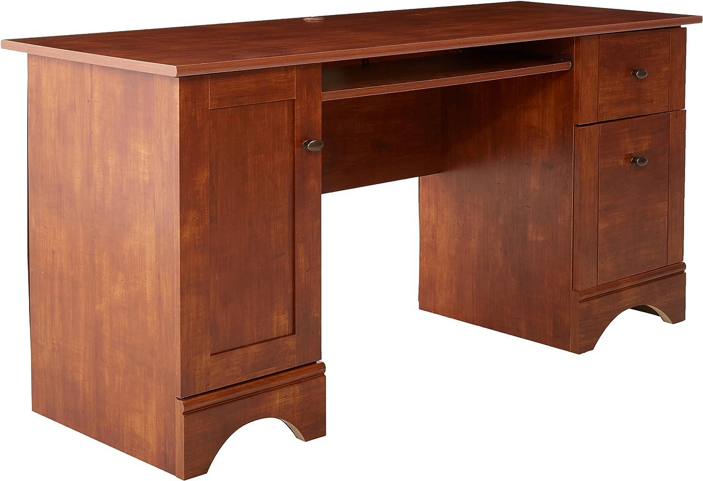 Sauder Computer Desk, L 59.45 x W 23.47 x H 29.02 , Brushed Maple finish