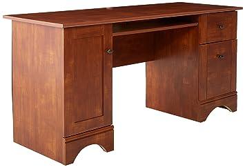 sauder computer desk brushed maple finish