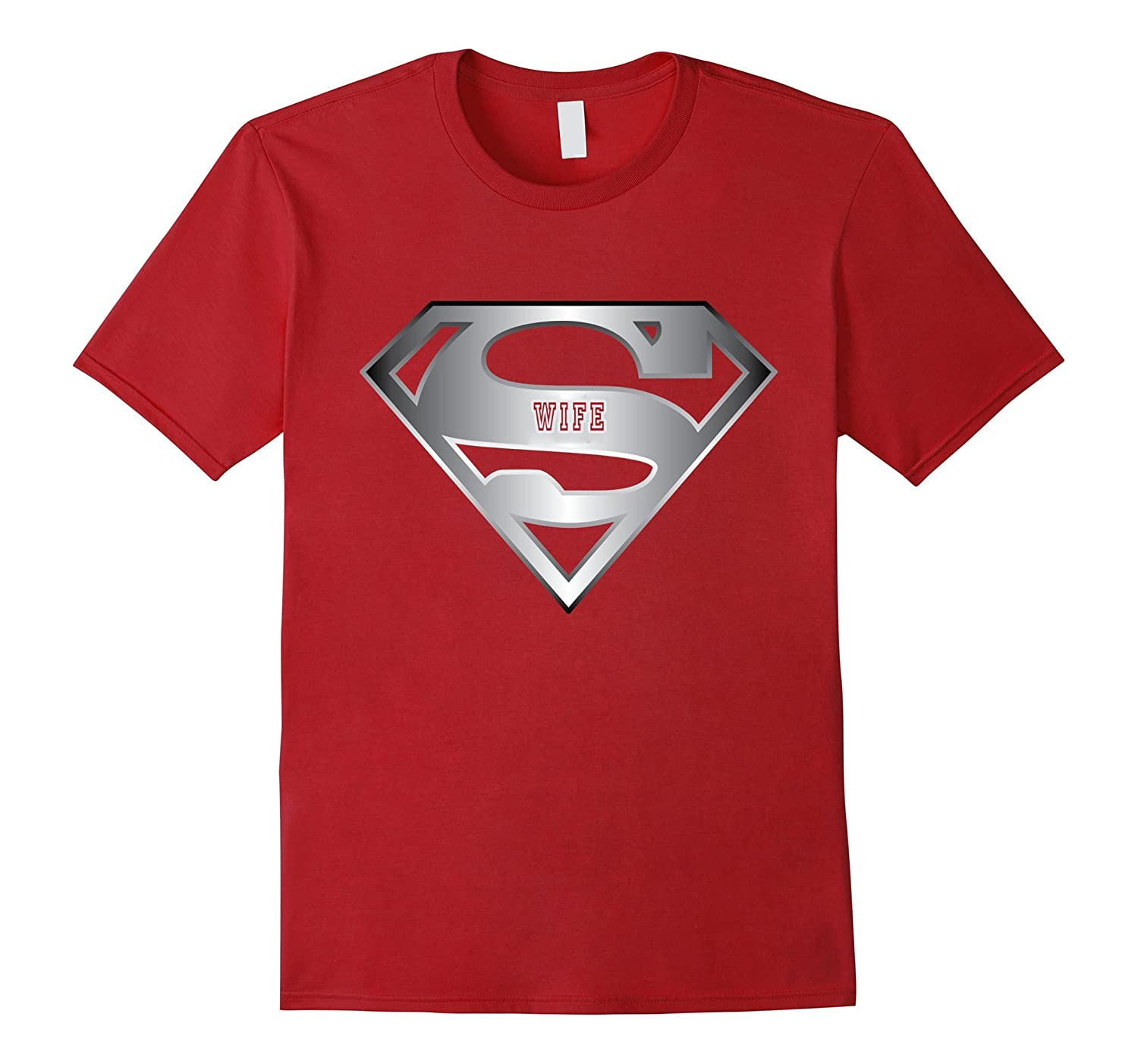 Super wife shirt gift for superhero mother day T-shirt-Vaci