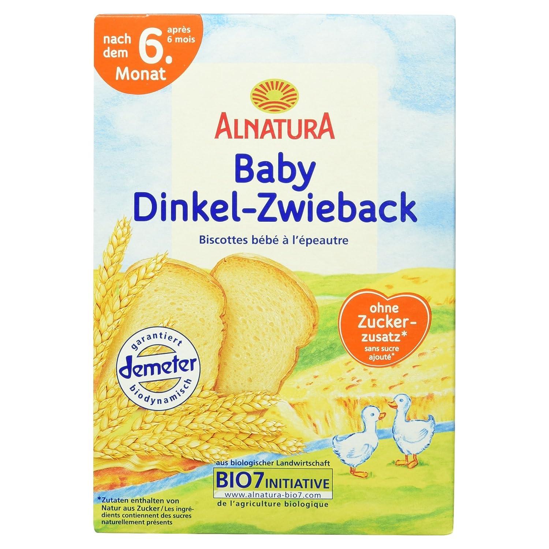 Alnatura Bio Dinkelzwieback, 6er Pack (6 x 200 g) 404811