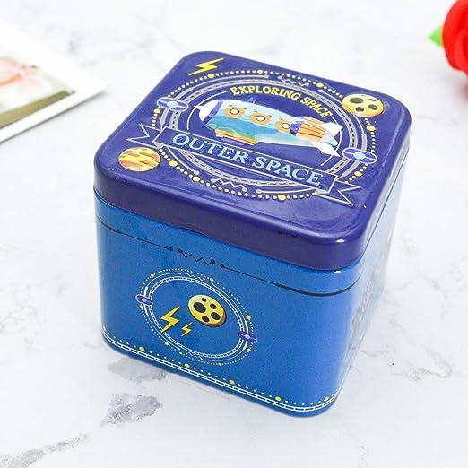 VEA-DE Caja de Almacenamiento multipropósito Caja de hojalata Cuadrada Caja de Almacenamiento de Cajas metálicas ...