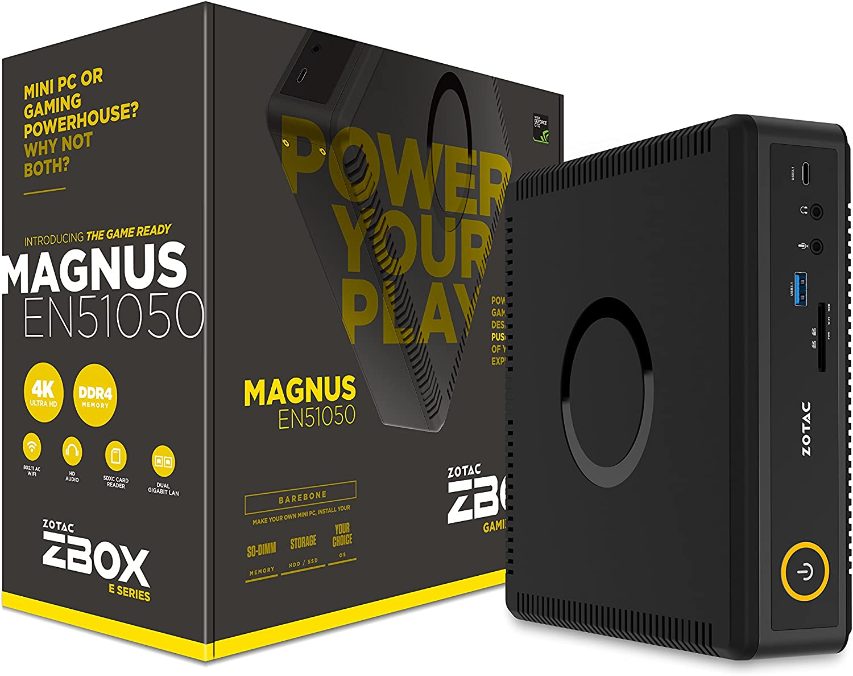 Zotac ZBOX MAGNUS EN51050 LGA 1151 (Zócalo H4) 2,70 GHz i5-7500T 2,6 l tamaño PC - Barebón (LGA 1151 (Zócalo H4), 7ª generación de procesadores Intel® Core™ i5, 2,70 GHz, i5-7500T, 14 nm, 3,30 GHz)