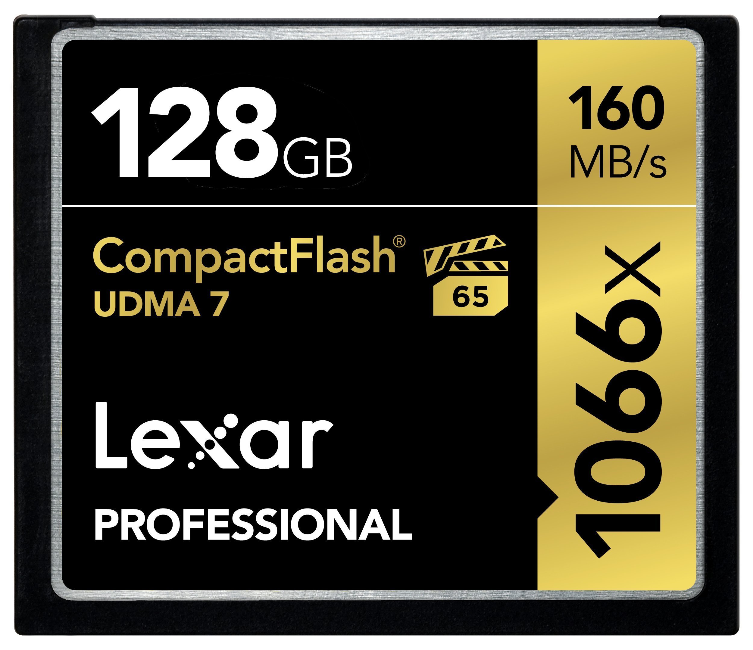 Lexar Professional 1066x 128GB VPG-65 CompactFlash card (Up to 160MB/s Read) LCF128CRBNA1066 by Lexar