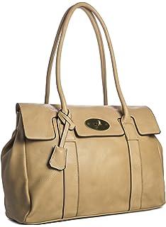 e6e7309123 Big Handbag Shop Womens Vegan Leather Top Handle Designer Boutique Tote  Shoulder…