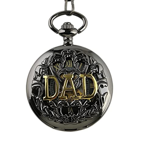 Amazon.com: Carrie Hughes Men Vintage Gold DAD Steampunk Skeleton Mechanical Pocket Watch with Chain Gift CHPW42: Watches