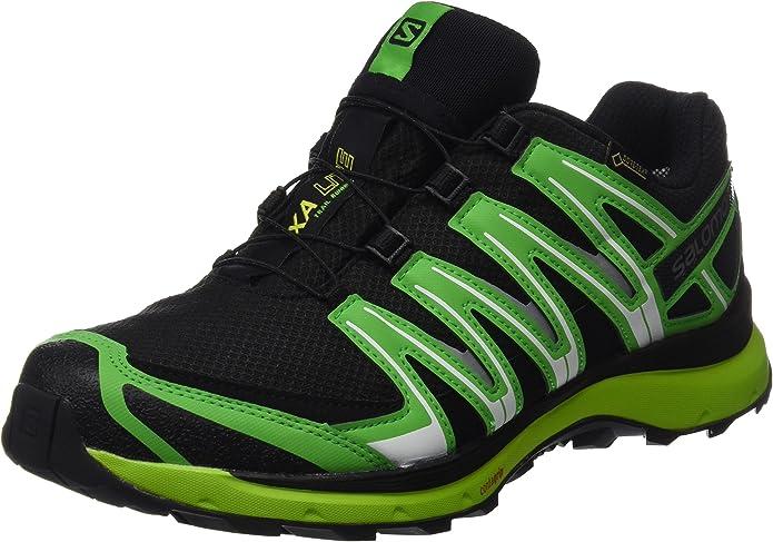 Salomon XA Lite GTX, Calzado de Trail Running para Hombre, Negro/Verde (Black/Classic Green/Lime Punch), 43 1/3 EU: Amazon.es: Zapatos y complementos