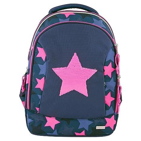 Depesche Mochila Escolar 10415 TopModel con Estrella de Lentejuelas de Pintura, Aprox. 23 x