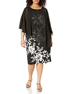 Fashions Womens Plus Size Sequence V-Neck Tunic Dress S.L