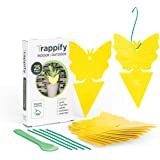 Trappify Sticky Fruit Fly and Gnat Trap Yellow Sticky Bug Traps for Indoor/Outdoor Use - Insect Catcher for White Flies…