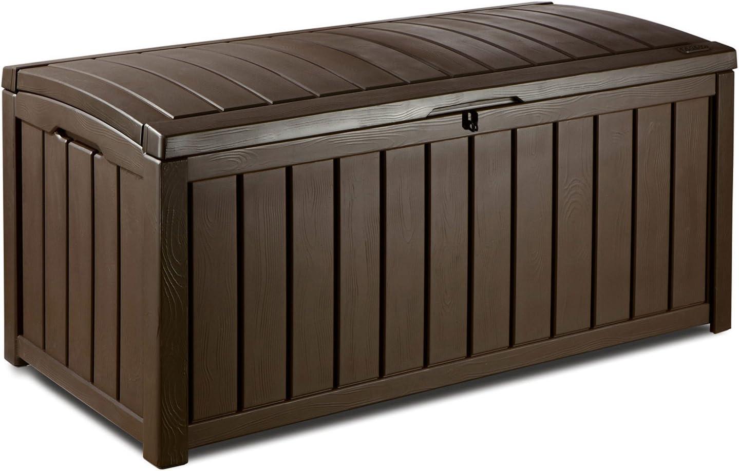 KETER Glenwood - Arcón, Color marrón Chocolate