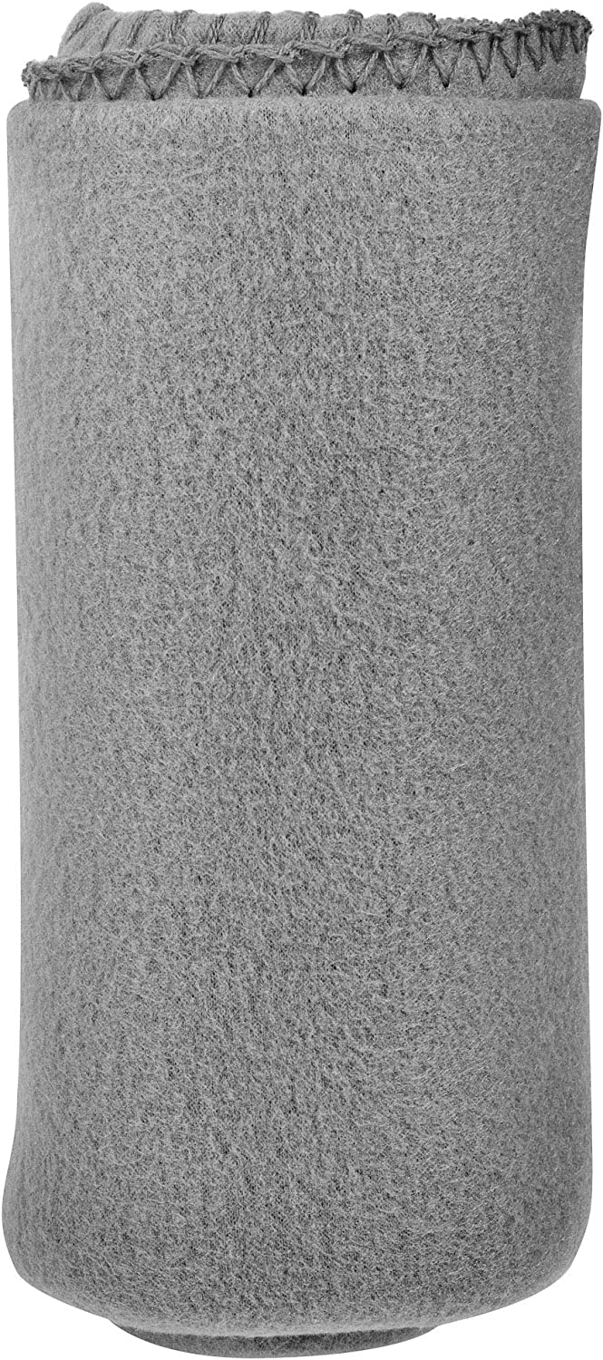 """50""""x 60"""" Ultra Soft Fleece Throw Blanket - Perfect Blanket for Pets, Family, and Friends - Charitable Compact Blanket - 100% Machine Washable Polyester Fleece Throw (Gray)"""